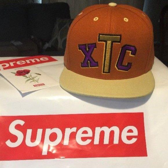 Supreme Other - NEW SUPREME FLAT XTC ECSTASY 6-PANEL CAP orange